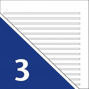 Lineatur 3 (Mittelhöhe ca. 4mm)
