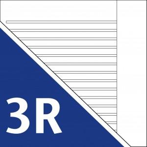 Lineatur 3 mit Rand (Mittelhöhe 4mm)