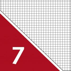 Lineatur 7 (großkariert 7x7mm)