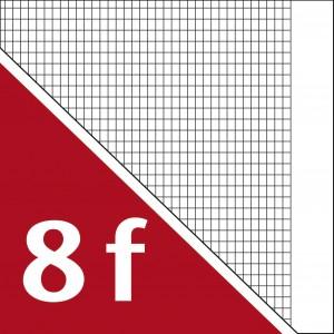 Lineatur 8/f (langkariert 5x7mm, mit Rand)
