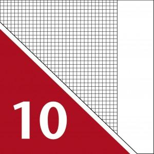 Lineatur 10 (Heft A5, kleinkariert, 5x5mm)