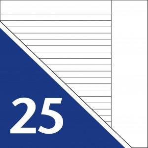 Lineatur 25 (Heft A4)