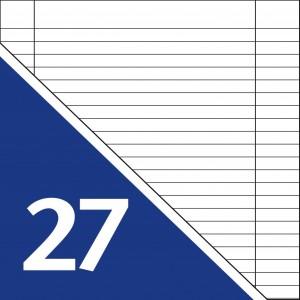 Lineatur 27 (Heft A4, Block A4)