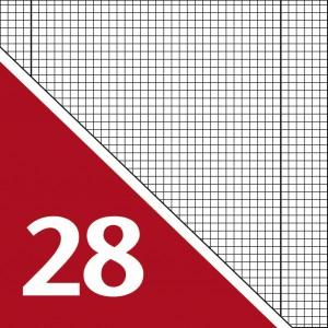 Lineatur 28 (Heft A4, Block A4)