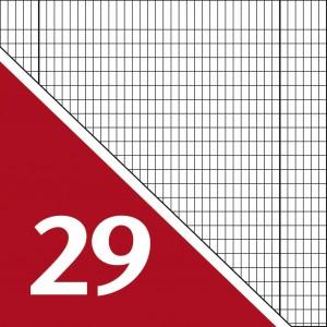 Lineatur 29 (Heft A4, langkariert 5x9mm)